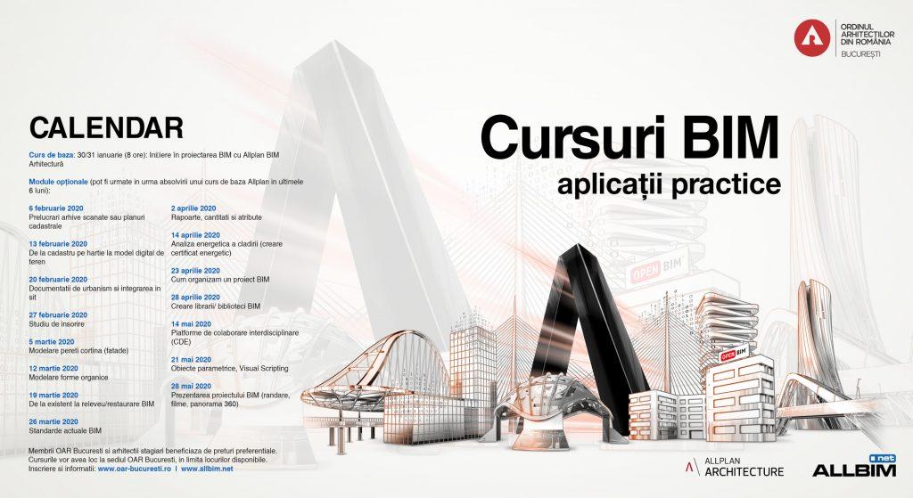 calendarul cursurilor BIM la OAR Bucuresti pe baza Allplan Architecture