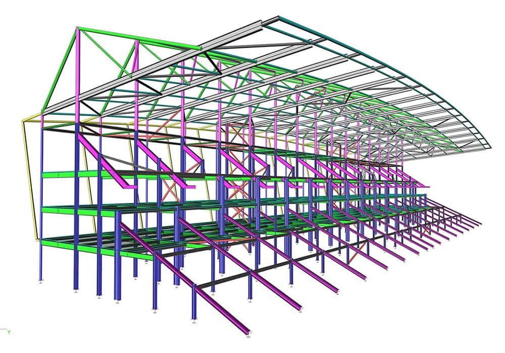 Belfast Stadium - SCIA Engineer