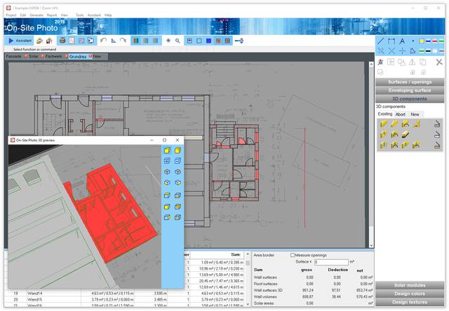 Elemente 3D direct pe planul digitalizat