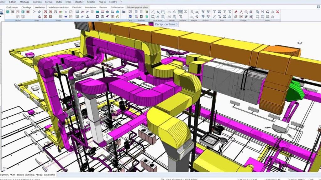 Ventilatii 3D cu Allplan Architecture si AX3000