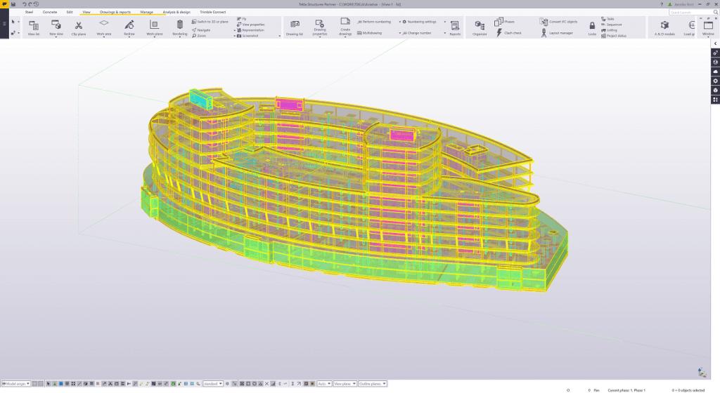 SCIA Engineer 20 - Roundtrip pentru armătură cu Tekla Structures Aviatica Building