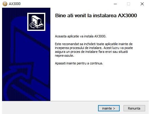 Instalare AX3000 3