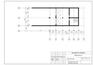 Plan Demisol, cota -2.400 Dimensiuni constructive