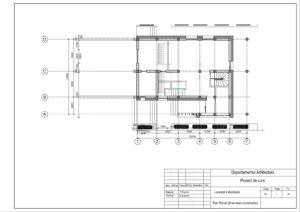 Plan Parter.Dimensiuni constructive