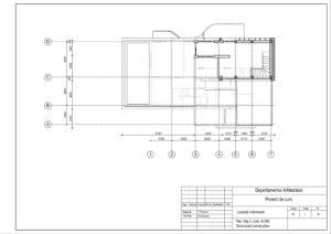 Plan Etaj 2, cota +6.000 Dimensiuni constructive