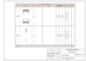 Tabloul elementelor de tîmplărie Uși 1