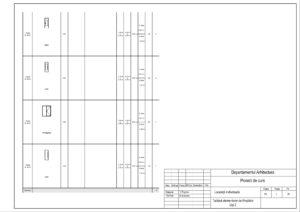 Tabloul elementelor de tîmplărie Uși 2