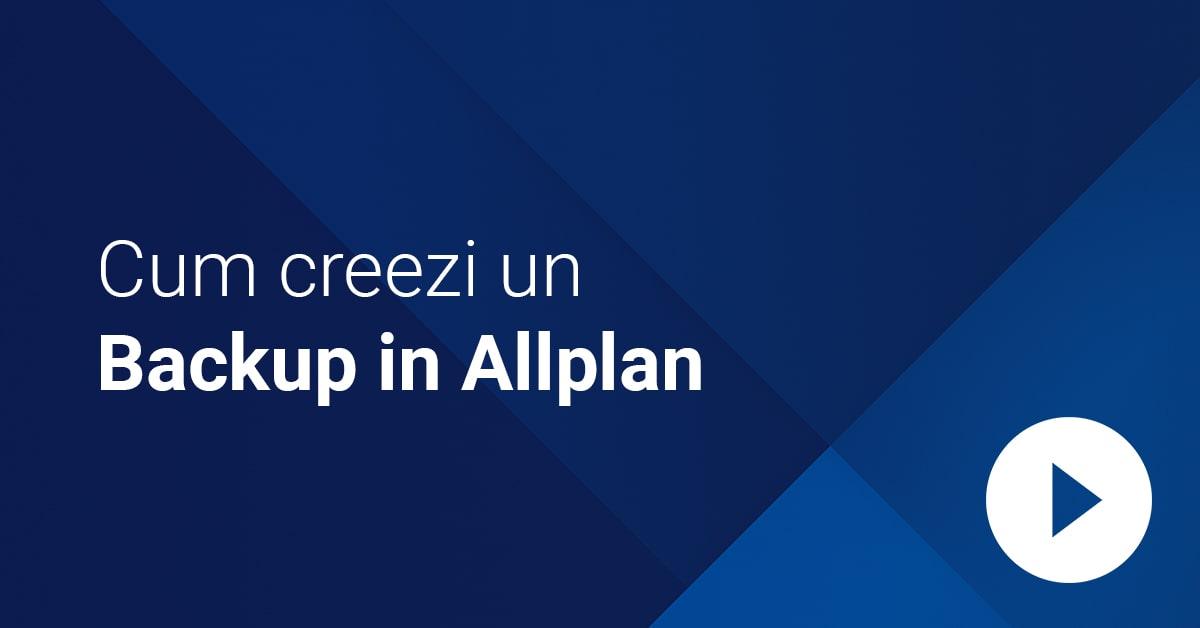 Video cover creare backup Allplan min