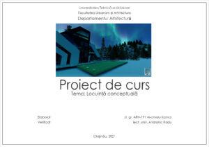 Tema: Locuință conceptuală