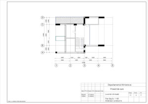 Plan Etaj Sc. 1:100 Dimensiuni constructive