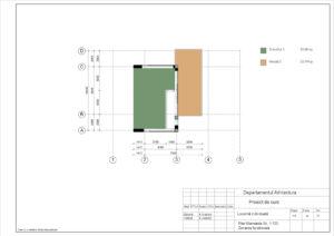 Plan Mansarda Sc. 1:100 Zonarea functionala