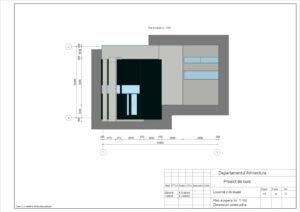 Plan Acoperiș Sc. 1:100 Dimensiuni constructive