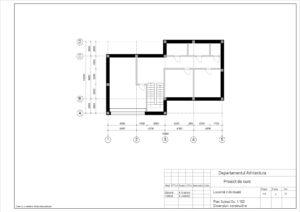 Plan Subsol Sc. 1:100 Dimensiuni constructive