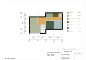 Plan Subsol Sc. 1:100 Zonarea functională