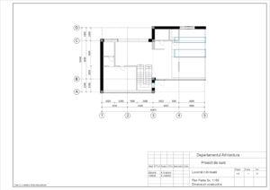 Plan Parter Sc. 1:100 Dimensiuni constructive