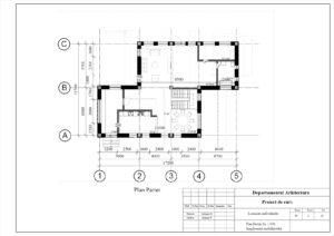Plan Parter Sc 1:100 Amplasarea mobilierului