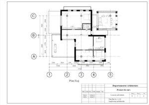 Plan Etaj Sc. 1:100 Amplasarea mobilierului
