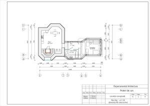 Plan Etaj 1 sc1:100 (dimensiunile constructive)