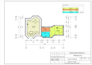 Plan Etaj 1 sc1:100 (cu indicarea zonarii functionale)