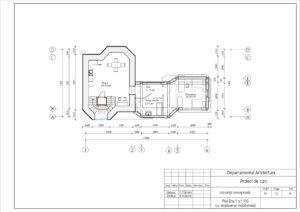 Plan Etaj 1 sc1:100 (cu amplasarea mobilierului)