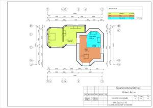 Plan Etaj 2 sc1:100 (cu indicarea zonarii functionale)
