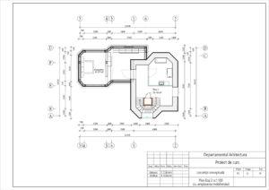 Plan Etaj 2 sc1:100 (cu amplasarea mobilierului)