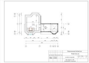 Plan Subsol sc1:100 (dimensiunile constructive)