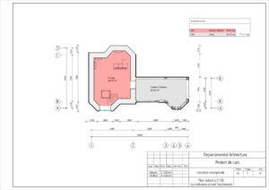 Plan Subsol sc1:100 (cu indicarea zonarii functionale)