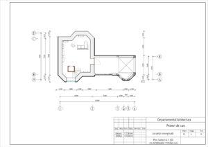 Plan Subsol sc.1:100 (cu amplasarea mobilierului)