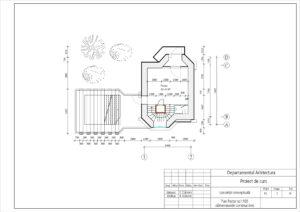 Plan Parter sc1:100 (dimensiunile constructive)
