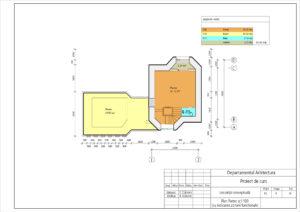 Plan Parter sc1:100 (cu indicarea zonarii functionale)