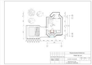 Plan Parter sc1:100 (cu amplasarea mobilierului)