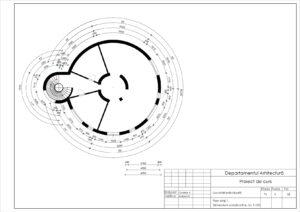 Plan etaj 1. Dimensiuni constructive. Sc 1:100