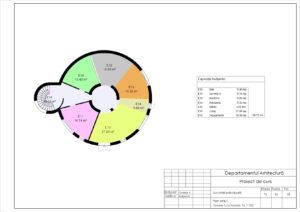 Plan etaj 1. Zonare functionala. Sc 1:100