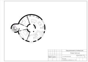 Plan etaj . Amplasarea mobilierului. Sc 1:100