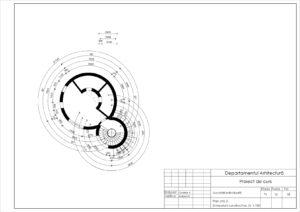 Plan etaj 2. Dimensiuni constructive. Sc 1:100