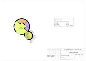 Plan etaj 2. Zonare functionala. Sc 1:100