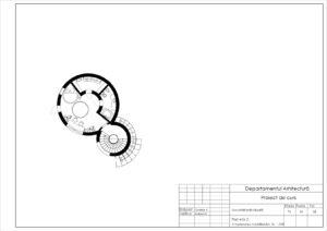 Plan etaj 2. Amplasarea mobilierului. Sc 1:100