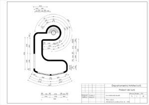 Plan subsol. Dimensiuni constructive. Sc 1:100