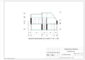 Secțiune transversală 2-2.Sc.1:100