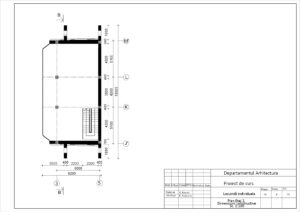 Plan Etaj 2. Dimensiuni constructive Sc. 1:100