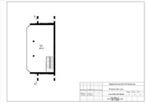 Plan Etaj 2. Zonarea functionala