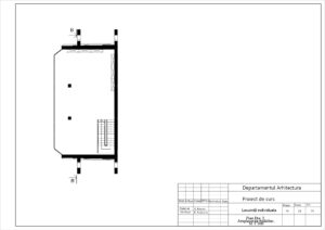 Plan Etaj 2. Amplasare mobilier Sc 1:100