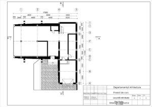 Plan Parter. Dimensiuni constructive Sc. 1:100
