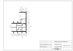Plan Etaj 1. Dimensiuni constructive Sc. 1:100