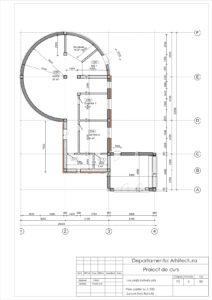 Plan parter Sc.1:100 Zonare functională