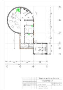 Plan parter Sc.1:100 Amplasarea mobilierului