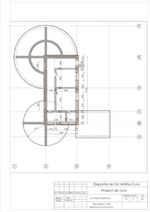 Plan etaj Sc.1:100 Dimensiuni constructive