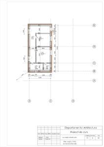 Plan etaj Sc.1:100 Zonare functională