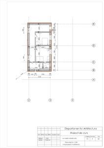 Plan etaj Sc.1:100 Amplasarea mobilierului